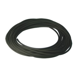 Durite caoutchouc noire ø : 2 mm. long.  : 10 m rempl. universel