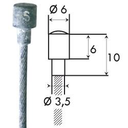 Câble embrayage 20/10 goupille