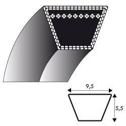 Courroie kevlar 3L260 idem Z24.5