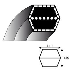 COURROIE ADAPTABLE A MTD 754-0443A - Série 700 jusqu'en 1997