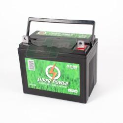 Batterie 12V - 25 Amp + à DROITE