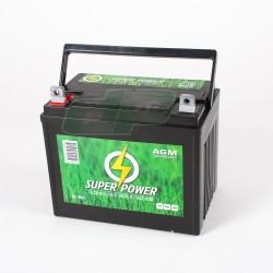 Batterie 12V - 25 Amp + à GAUCHE