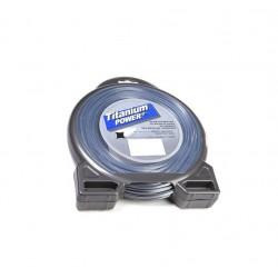 Fil titanium carre 2.5mm - 64m