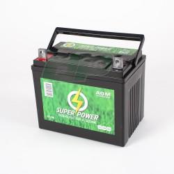 Batterie 12V - 32 Amp + à gauche