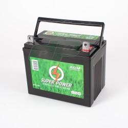 Batterie 12V - 32 Amp + à DROITE